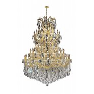 Maria Theresa 61 light Gold Finish with Double Cut Crystal Chandelier