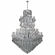 W83069C72 Maria Theresa 84 Light Chrome Finish and Clear Crystal Chandelier Five 5 Tier