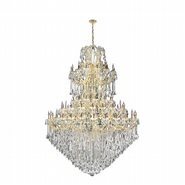 Maria Theresa 84 Light Gold Finish and Clear Crystal Chandelier Five 5 Tier