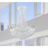 W83074C24 Empire 15 Light Chrome Finish with Clear Crystal Chandelier