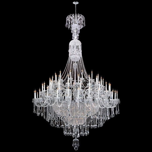 W83078C96 Maria Theresa 122 Light Chrome Finish with Clear Crystal Chandelier - Discontinued