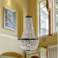 W83084B20 Metropolitan 8 Light Antique Bronze Finish and Clear Crystal Chandelier