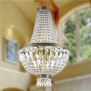 W83088B16 Metropolitan 6 light Antique Bronze Finish with Clear Crystal Chandelier