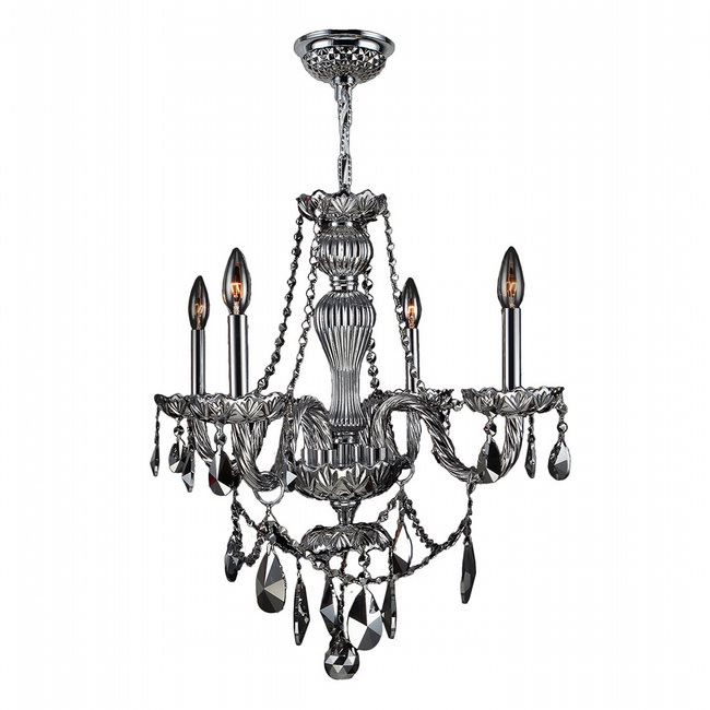 W83095C23-CH Provence 4 light Chrome Finish with Chrome Crystal Chandelier - Discontinued
