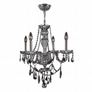 W83095C23-CH Provence 4 light Chrome Finish with Chrome Crystal Chandelier
