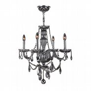 W83095C23-SM Provence 4 Light Chrome Finish Smoke Crystal Chandelier