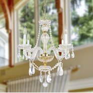W83095G23 Provence 4 Light Gold Finish Clear Crystal Chandelier