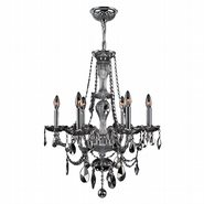 W83096C23-CH Provence 6 light Chrome Finish with Chrome Crystal Chandelier - Discontinued