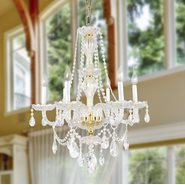 W83096G23 Provence 6 light Gold Finish and Clear Crystal Chandelier