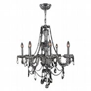 W83097C28-CH Provence 8 Light Chrome Finish and Chrome Crystal Chandelier