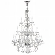 Provence 21 Light Chrome Finish and Clear Crystal Chandelier Three 3 Tier