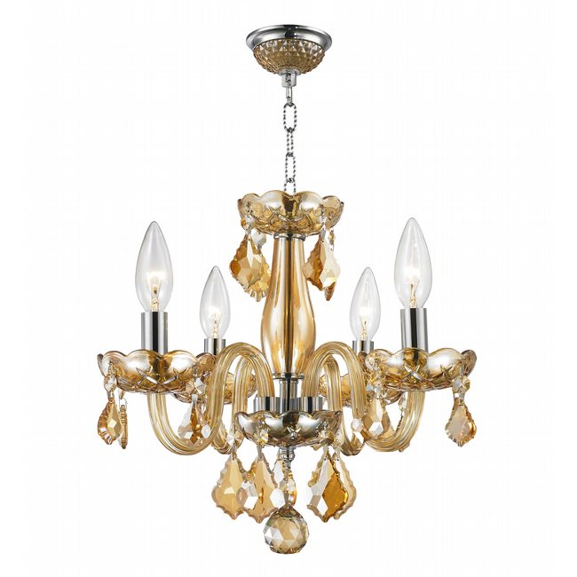 W83100c16 am clarion 4 light chrome finish and amber crystal chandelier amber crystal chandelier previous next aloadofball Gallery