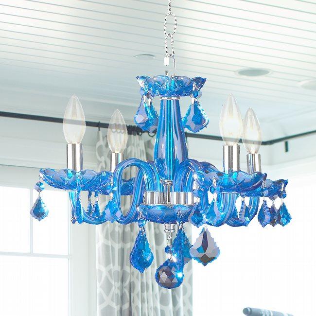 clarion finish crystal light blue chrome chandelier p sapphire sp