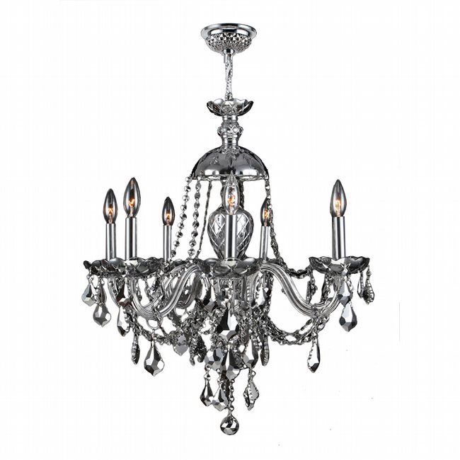 W83101C26-CH Provence 7 Light Chrome Finish and Chrome Crystal Chandelier - Discontinued
