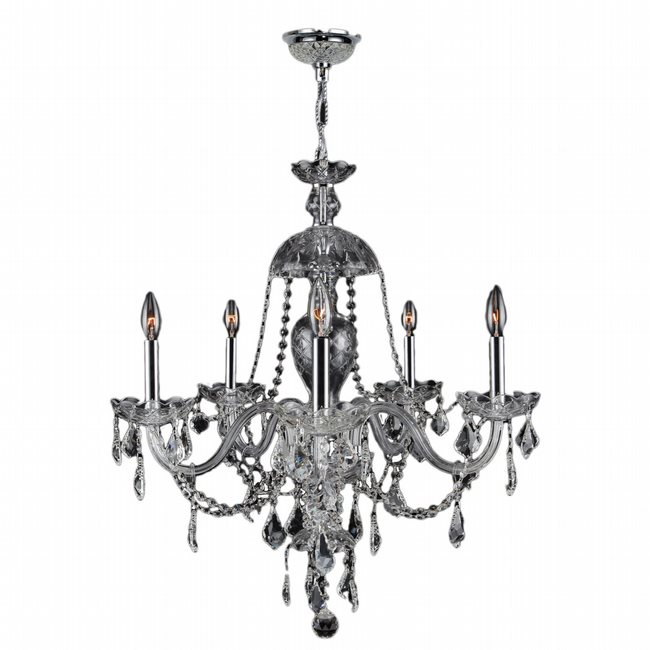 W83101C26-CL Provence 7 Light Chrome Finish with Clear Crystal Chandelier - Discontinued