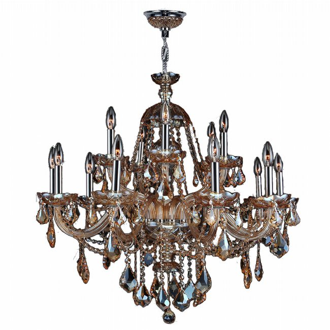 Am provence 15 light chrome finish and amber crystal chandelier two w83101c35 am provence 15 light chrome finish and amber crystal chandelier two 2 tier aloadofball Gallery
