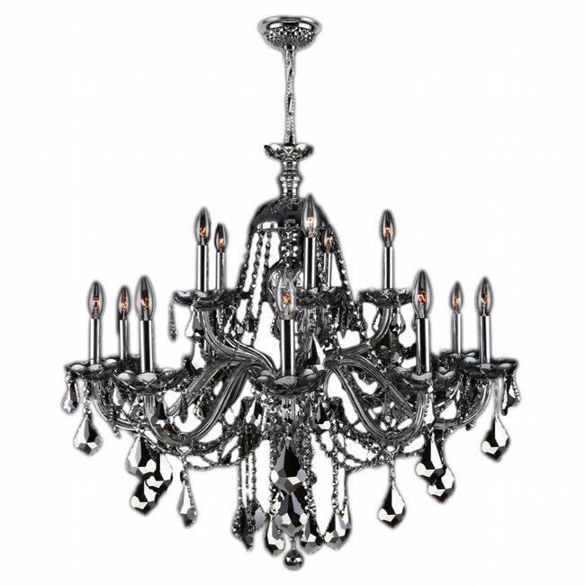 W83101C35-CH Provence 15 light Chrome Finish with Chrome Crystal Chandelier - Discontinued