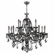W83101C35-CH Provence 15 light Chrome Finish with Chrome Crystal Chandelier