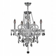 W83102C20-CL Provence 5 Light Chrome Finish Crystal Chandelier