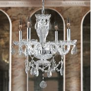 W83103C17-CL Provence 4 Light Chrome Finish Crystal Chandelier