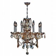W83103C20-AM Provence 8 Light Chrome Finish with Amber Crystal Chandelier - Discontinued