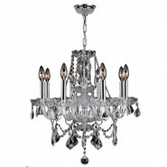 Provence Collection 8 Light Chrome Finish and Clear Crystal Chandelier