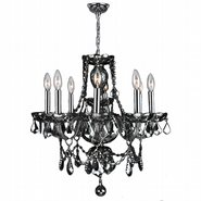 Provence 8 Light Chrome Finish with Smoke Crystal Chandelier