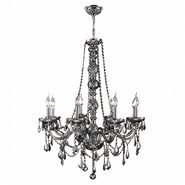 W83106C28-CH Provence 8 Light Chrome Finish and Chrome Crystal Chandelier