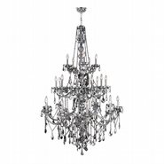 W83108C43-CH Provence 25 Light Chrome Finish and Chrome Crystal Chandelier Three 3 Tier