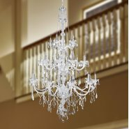 W83108C43-CL Provence 25 light Chrome Finish with Clear Crystal Chandelier