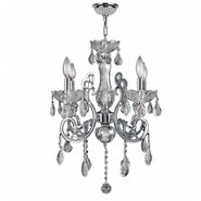 W83109C20-CL Kronos 4 Light Chrome Finish and Clear Crystal Chandelier