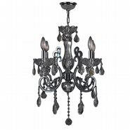W83109C20-SM Kronos 4 Light Chrome Finish and Smoke Crystal Chandelier
