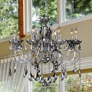 W83109C30-CH Kronos 8 light Chrome Finish with Chrome Crystal Chandelier