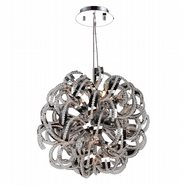 W83112C20 Medusa 9 Light Chrome Finish and Clear Crystal Chandelier