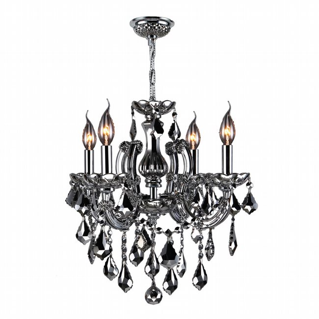 W83119C18-CH Catherine 4 light Chrome Finish with Chrome Crystal Chandelier