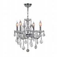W83119C18-CL Catherine 4 light Chrome Finish and Clear Crystal Chandelier