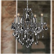 W83119C18-SM Catherine 4 Light Chrome Finish and Smoke Crystal Chandelier