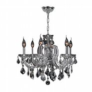 W83121C20-CL Catherine 6 Light Chrome Finish and Clear Crystal Chandelier