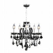 Catherine Collection 8 Light Chrome Finish with Black Crystal Chandelier