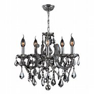 Catherine Collection 8 Light Chrome Finish with Chrome Crystal Chandelier