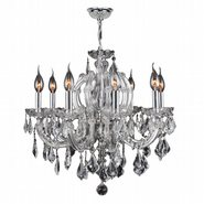 Catherine Collection 8 Light Chrome Finish with Clear Crystal Chandelier