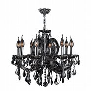 Catherine 8 Light Chrome Finish with Smoke Crystal Chandelier