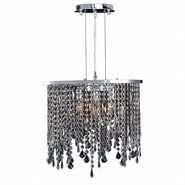 Fiona Collection 3 Light Chrome Finish and Clear Crystal Pendant Light