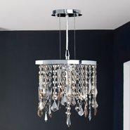 W83124C10 Fiona 1 light Chrome Finish with Multi-Colored Crystal Pendant