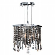 W83124C14 Fiona 2 light Chrome Finish with Multi-Colored Crystal Pendant