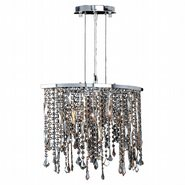 Fiona Collection 3 Light Chrome Finish and Multi-Color Crystal Pendant Light