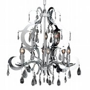 Henna Collection 9 Light Chrome Finish and Clear Crystal Chandelier