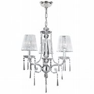 Orleans 3 light Chrome Finish with Clear Crystal Chandelier