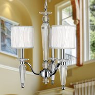 W83132C18 Gatsby 3 light Chrome Finish with Clear Crystal Chandelier
