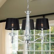 W83135C22 Gatsby 3 light Chrome Finish with Clear Crystal Chandelier
